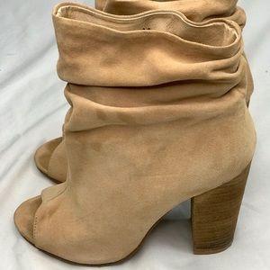 Kristin Cavallari Laurel Suede Peep Toe Booties
